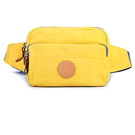 Eshow Bolso de Cintura de Tela de Lona para Mujer Bolso de Ocio de Compra  Color e42e0c653fc81