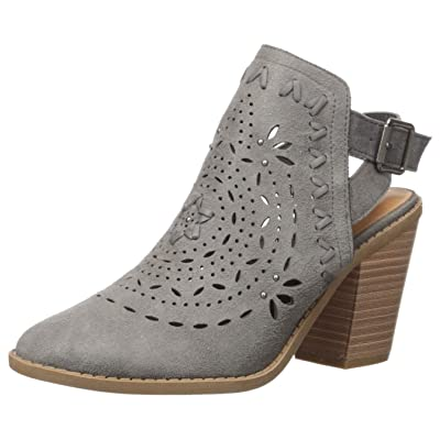 Sugar Women's Rilla Perforated Open Back Block Heel Ankle Boot | Ankle & Bootie
