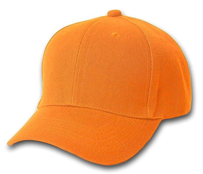 12 Baseball Caps Wholesale- Orange at Amazon Men s Clothing store  fea5cb60a45