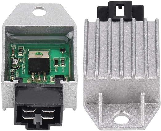 4 Pin Stecker Regle Keenso 12 V 4 Pin Stecker Regler Gleichrichter Für 50cc Bis 150cc Atv Moped Gy6 Roller Auto