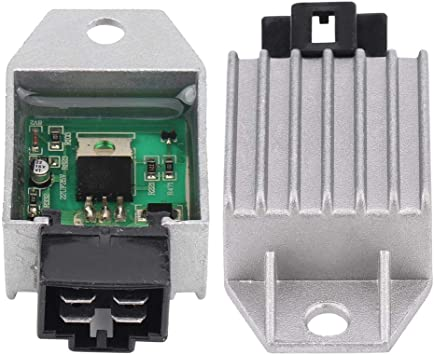 Amazon.com: 4-Pin Male Plug Regulator Rectifier, Keenso 12V Regulator  Rectifier for 50cc to 150cc ATV Moped GY6 Scooter: Automotive  Amazon.com
