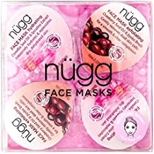 nügg Moisture Boost Moisturizing Face Mask Kit for Dry Skin: Get Rid of Dry Spots and Intensely Hydrate and Moisturize Skin for a Smooth, Dewy Look & Feel; 4 Pack of Single Serve Pods (4x0.33 fl.oz.)