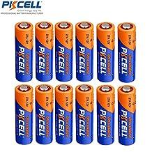 PKCELL 12 Pcs A27 27A MN27 12V Alkaline Batteries