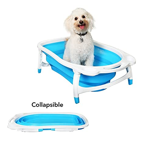 Portátil Plegable Perro Gato Baño Bañera Plegable, Plegable Bañera Pet Suministros Cuenca Barril Tina Cubo