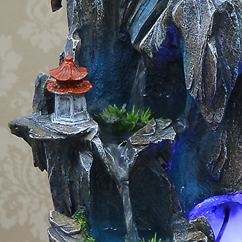 Bonsai decoration Feng Shui luck rockery and pond water fountain humidifier living room home furnishings by ZEM-PXD (Image #4)