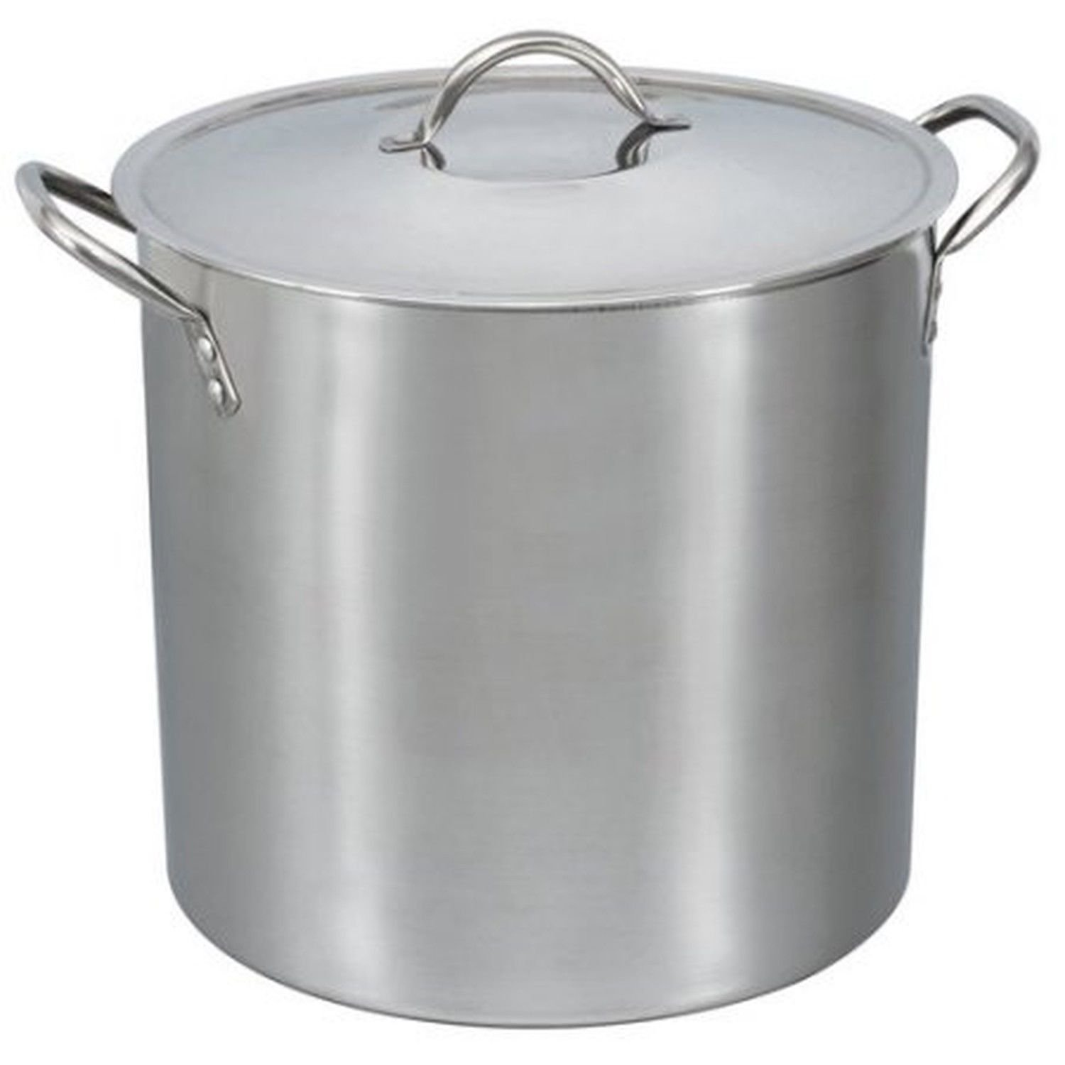 16-Qt Stainless Steel Stock Pot with Metal Lid New