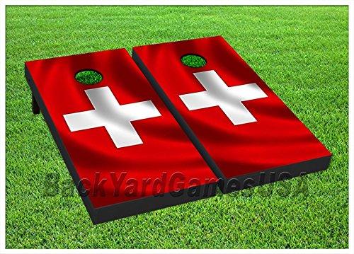 Switzerland Flag Cornhole Boards W Bags Corn Hole Beanbag