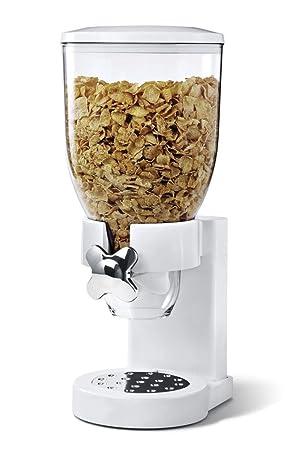 Nuevo Blanco Soporte para dispensador de cereales cocina hogar máquina de almacenamiento de alimentos secos: Amazon.es: Hogar