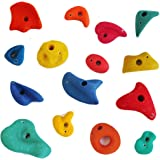 Piedras de escalada 15 piezas mix grande/mediano/pequeño multicolor con bloqueadores de juego de Gartenpirat®