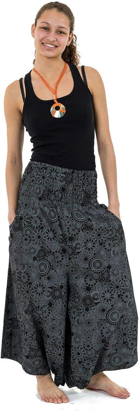 Taille S au XXXL 100/% Coton Confort at Home Confortable /& Original Noir Cr/é/é en France Fabrication Ethique FANTAZIA Sarwel Pantacourt Femme Effet Jupe Ceinture Elastique Kaleidoscope