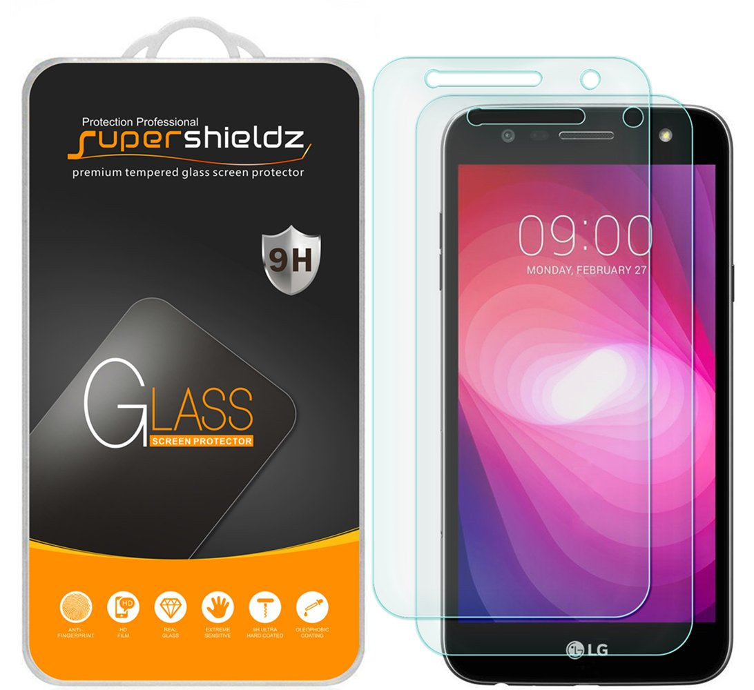 (2 Pack) Supershieldz for LG (X Charge) Tempered Glass Screen Protector, Anti Scratch, Bubble Free