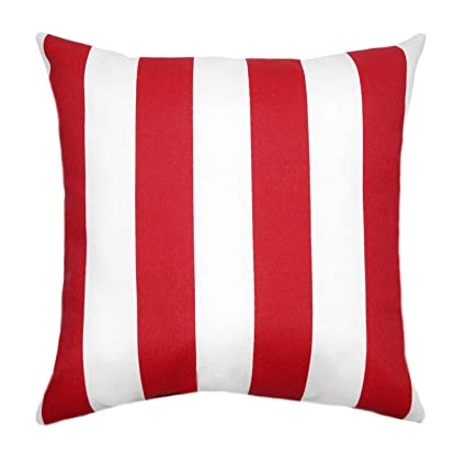 Amazon Com Dozili Red Outdoor Pillows Striped Decorative Outdoor