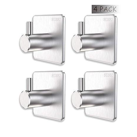 Amazon.com: Ganchos adhesivos 3M de 4 unidades de metal ...