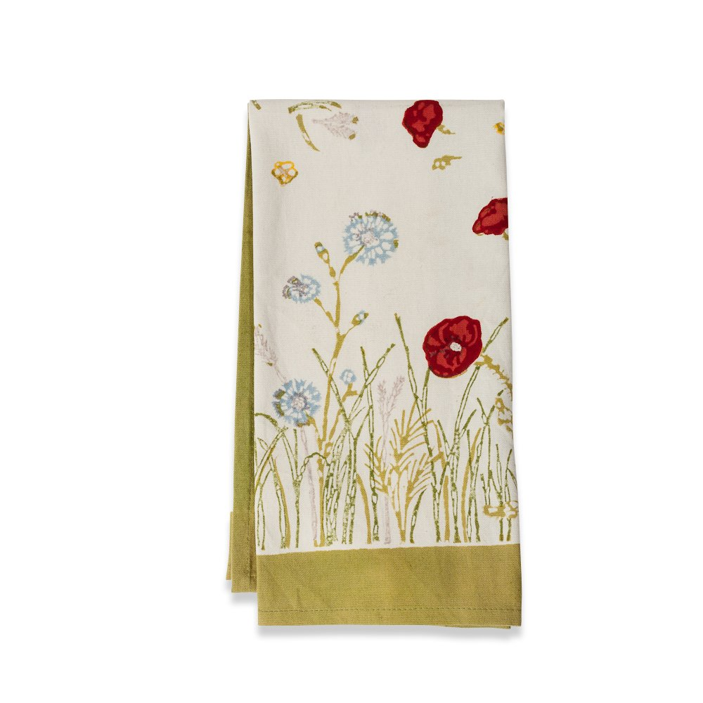 Couleur Nature Springfields Multi TeaTowels 20-inches by 30-inches, Set of 3 by Couleur Nature