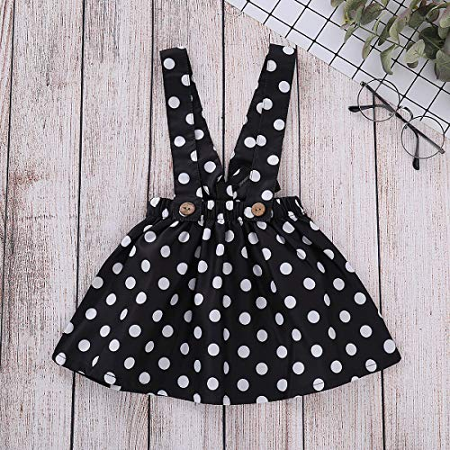 a42661abf Treafor Baby Toddler Girl Christmas Outfit | Long Sleeve Snowman Ruffle  Romper + Polka Suspender Skirt
