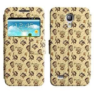 Be-Star Diseño Impreso Colorido Slim Casa Carcasa Funda Case PU Cuero - Stand Function para Samsung Galaxy S4 mini / i9190 / i9192 ( Cute Pirates )