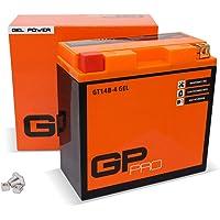 GP-PRO GT14B-BS 12V 12Ah GEL Batería de arranque (compatible con YT14B-BS / YT14B-4) (Sin necesidad de mantenimiento…