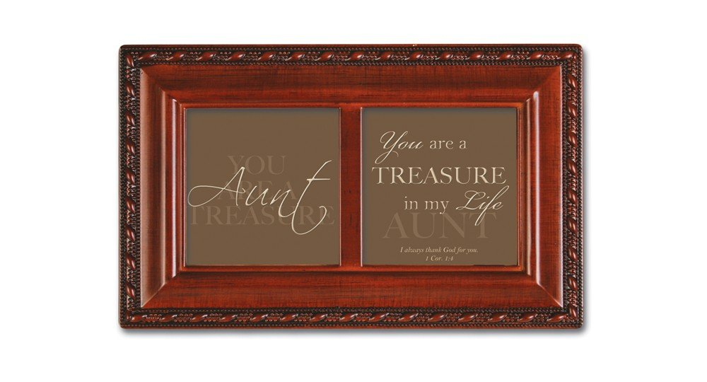 Cottage Garden Aunt Inspirational Woodgrain Petite Music Box Plays How Great Thou Art