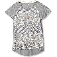 Speechless Girls' Big 7-16 Lace Front T-Shirt