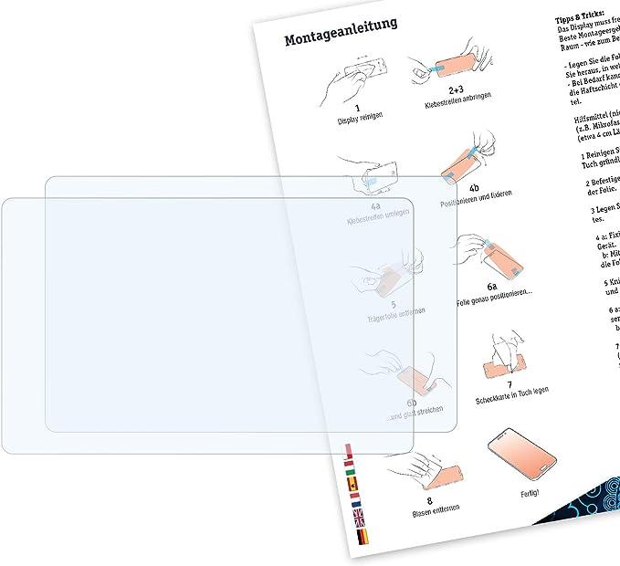 2X Film Protecteur Cristal Clair /Écran Protecteur Bruni Protecteur d/écran Convient pour Vorwerk Thermomix/® TM5/®