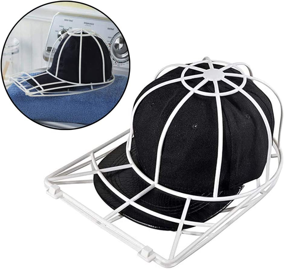 CUTICATE Baseball Hat Washer for Washing Machine,Cap Washer Frame Cage,Hat Cleaner Protector Hat Rack Black