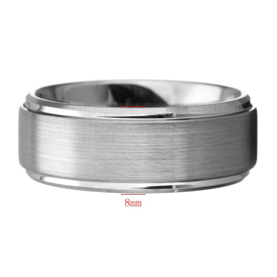 Para hombre anillo de tungsteno, carburo de tungsteno de boda banda anillo 8 mm: Amazon.es: Joyería