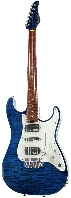 SCHECTER シェクター エレキギター EX-V-CUSTOM VTR HR/HM/4AG Black Aqua B00GXVVEWI