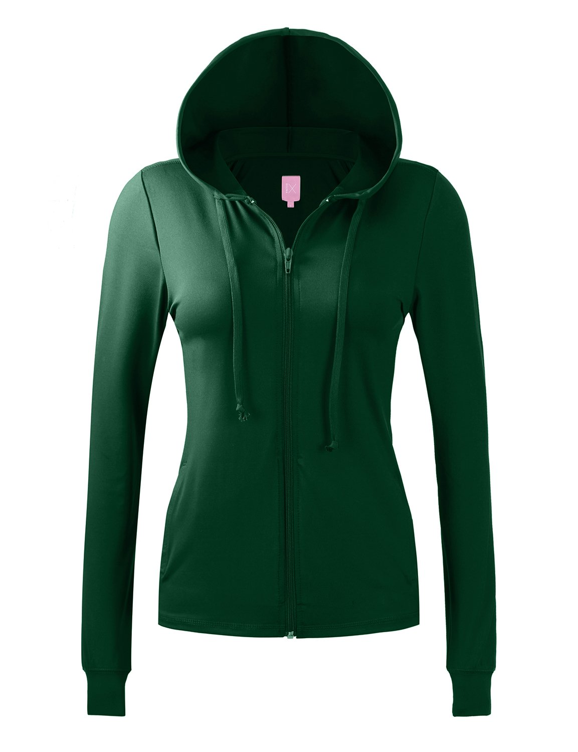 REGNA X NO BOTHER Womens dry fit running jersey gym full zip up hoodie jacket Large, Green
