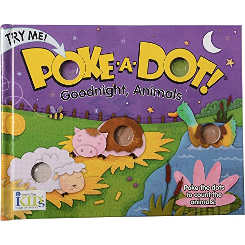 Constructive Playthings INN-46 Goodnight, Animals Poke-A-Dot Counting Board Book, Grade: Kindergarten to 3