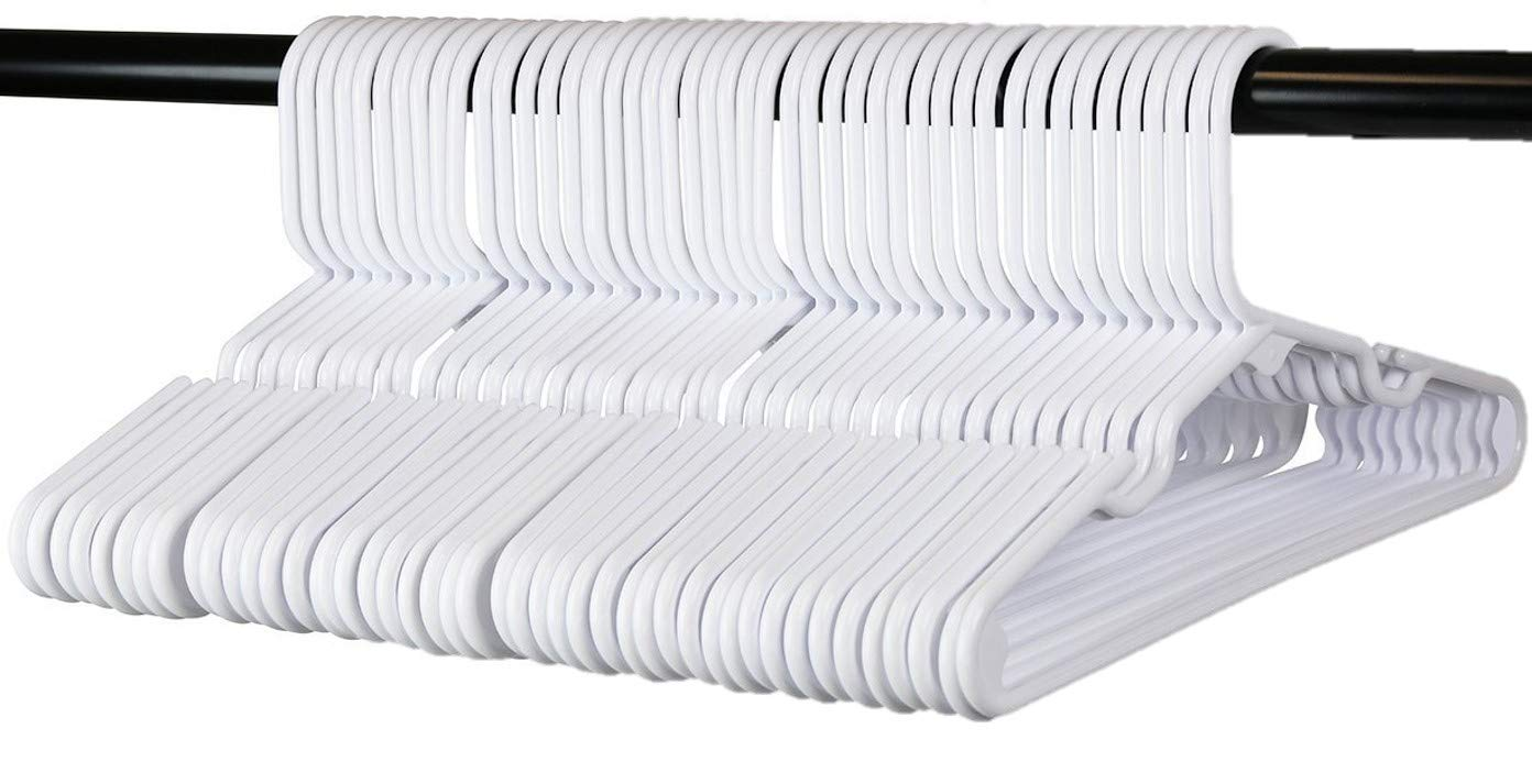 60 Premium Children's Hangers, Very Durable Heavy Duty Tubular Hangers, Made in The USA to Last a Lifetime! Designed to Fit Children Babies Value Pack of 60 - (White)