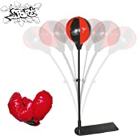 Punching Bag with Boxing Gloves Speed Ball Adjustable Boxing Set with 1 Pair Gloves and Hand Air Pump for Anti-Stress Fitness for Kids, KS-779