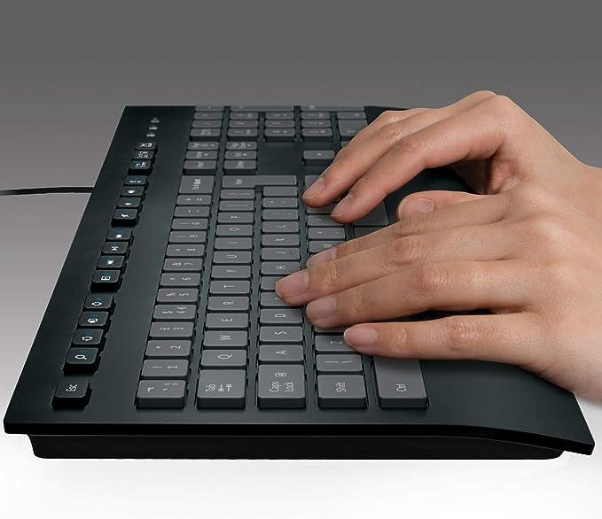 Anti Schizzi Nero Logitech K280e Pro Tastiera Business Cablata per Windows//Linux//Chrome PC//Laptop Layout Standard Italiano /QWERTY USB Plug-and-/Play