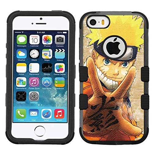 iPhone SE case, iPhone 5 case, iPhone 5s case, Hard+Rubber Dual Layer Hybrid Heavy-Duty Rugged Armor Cover Case - Naruto #PM