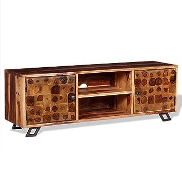 Festnight TV-Lowboard TV-Bank Fernsehschrank Fernsehtisch 116 x 30 x 40 cm Sheesham-Holz