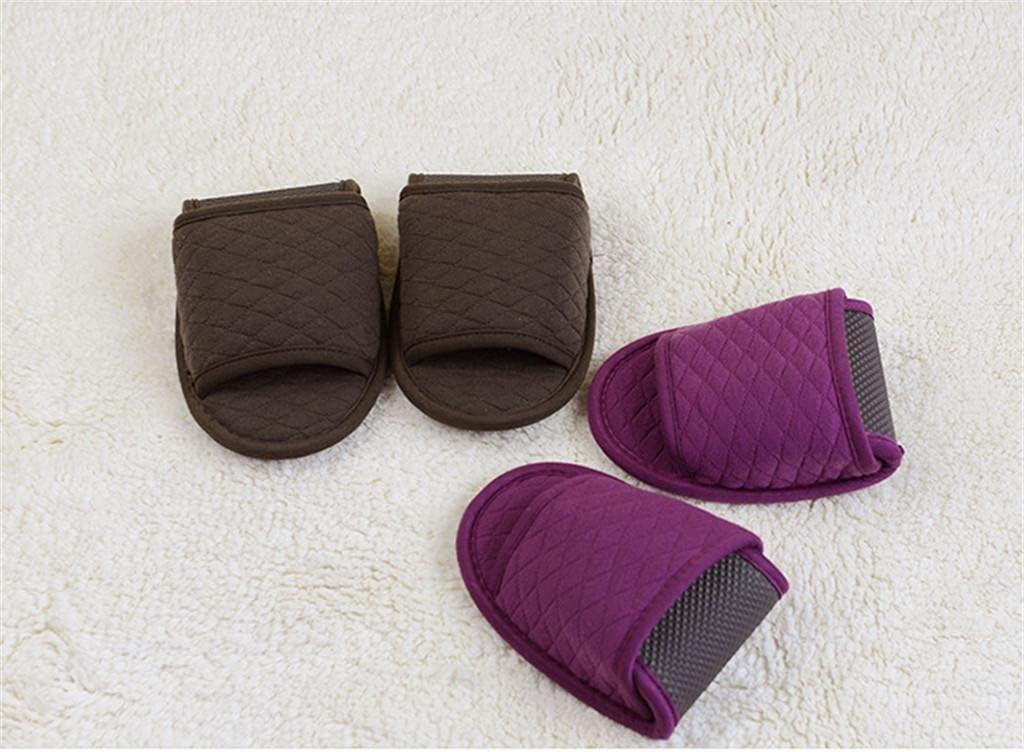 SPA Slippers-Zapatillas Plegables portátiles de algodón No Desechables Zapatillas avión de Viaje aéreo con Zapatillas de Hospitalidad 2 Pares, Purple: Amazon.es: Deportes y aire libre