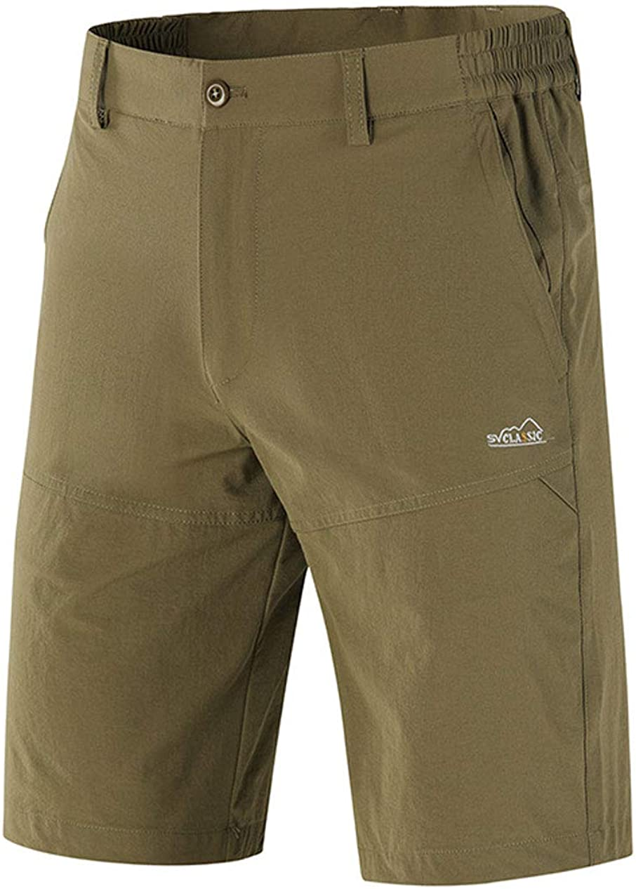 chouyatou Mens Outdoor Mid Rise Quick-Dry Stretched Summer Flat Front Bermuda Shorts
