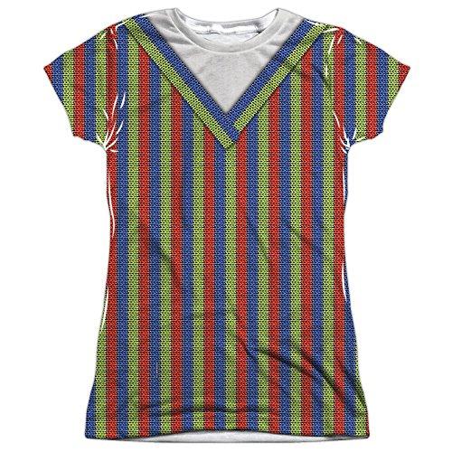 Juniors Bert Costume Sublimation Shirt (Front & Back), Medium ()