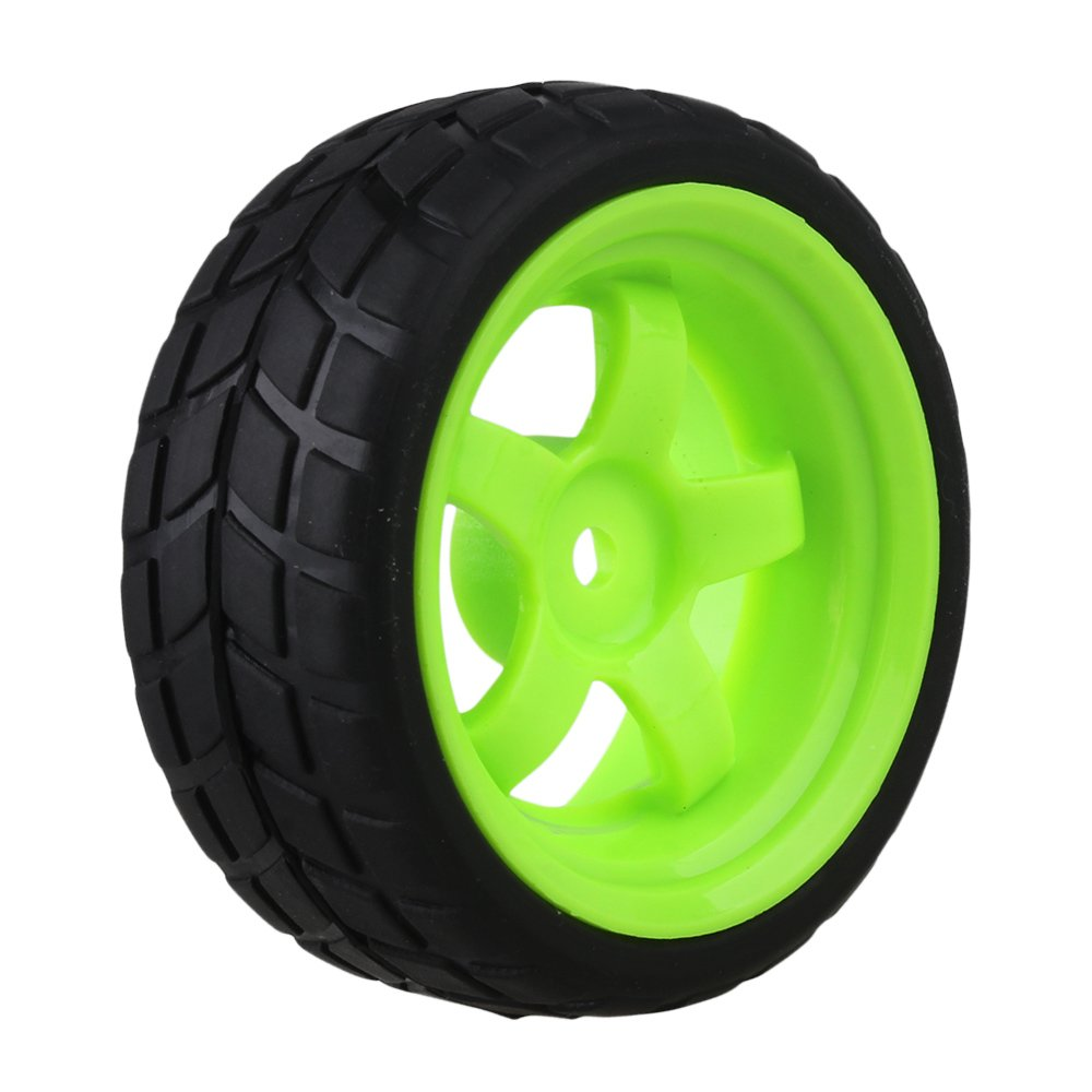 BQLZR Black and Green RC 1 10 On-road Racing Car Plastic Wheel Rims/&Rubber Tires Pack of 4