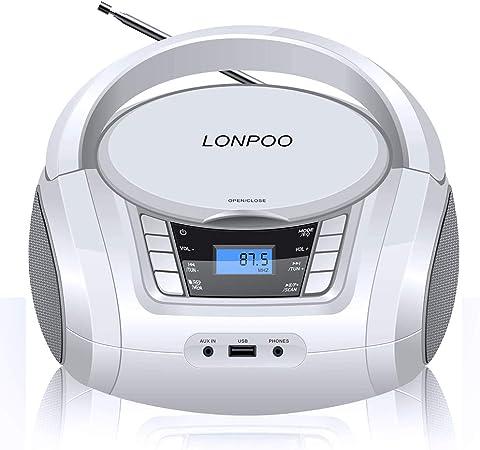 Lonpoo Tragbarer Cd Player Für Kinder Stereoanlage Elektronik