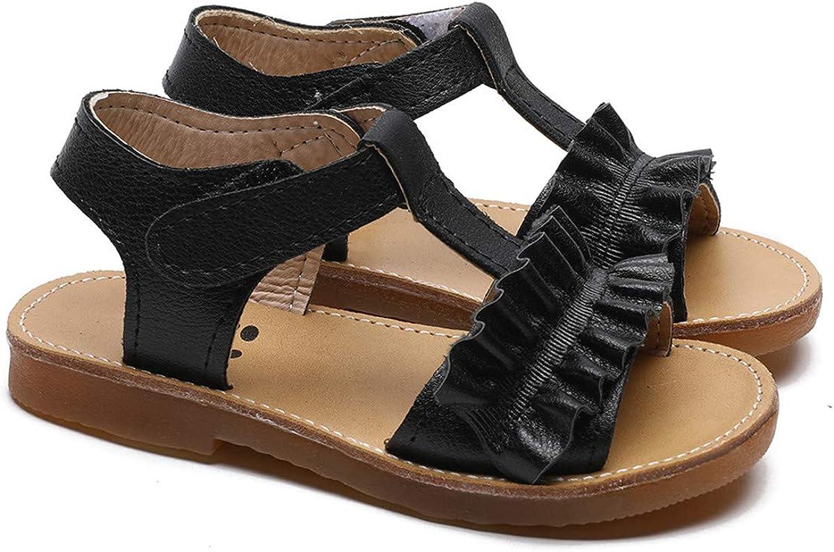 Toddler Baby Girls Sandals Premium Soft Rubber Sole Anti-Slip Little Girls Shoes Summer Party Wedding School Shoes