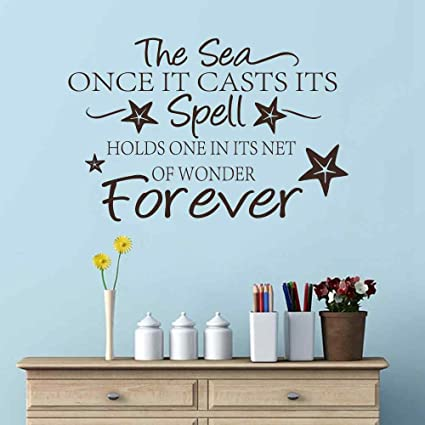 Battoo Sea Beach Wall Decal The Sea Spell Forever Vinyl Wall
