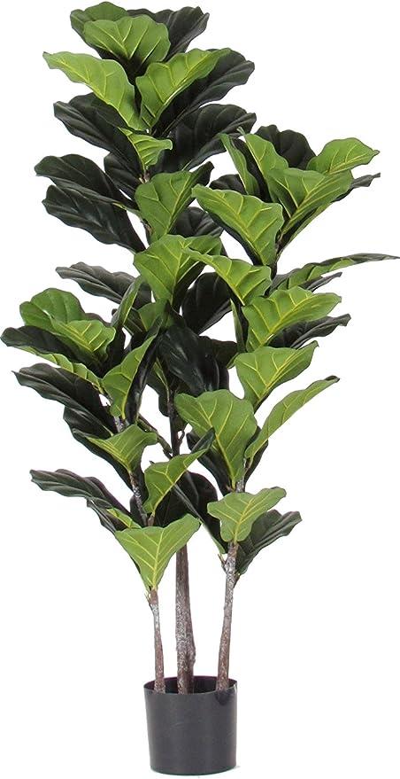 Piante Con Tronco Da Appartamento.Verdevip Ficus Pandorato Pianta Finta Artificiale Da Arredo