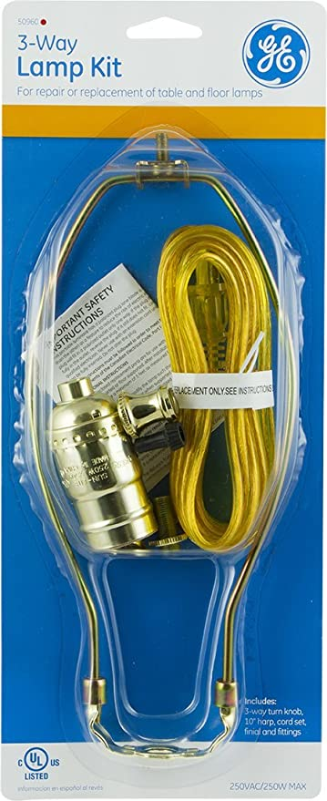 Ge 3 way lamp kit 8 foot clear cord lowmediumhigh settings ge 3 way lamp kit 8 foot clear cord lowmediumhigh settings 50960 extension cords amazon greentooth Choice Image