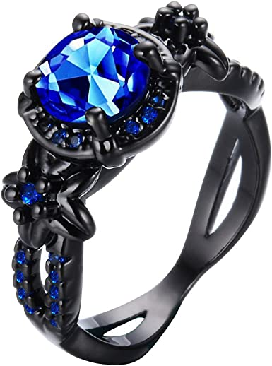 Blue and Black stone Ring