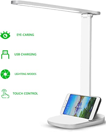 Lámpara de Escritorio LED, Lámparas de Mesa USB Regulable, Cuidado ...