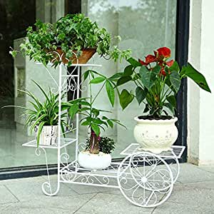 soporte de hierro flor Flor de hierro bastidores de varios pisos balcón interior sala de estar planta marco de la flor ollas de flor verde radix orquídea stand Balcón estantes de plantas ( Tamaño : 76*27*70cm )