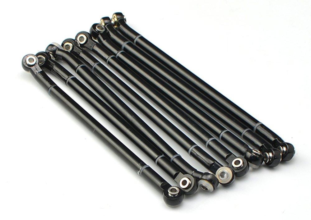 JKshop LNL 2018 New RC Aluminum Alloy Upgrad Rod 313MM Wheelbase for RC Car Crawler Axial Scx10 (Bend Link)