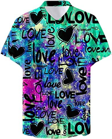 Fansu 3D Camisa Hawaiana para Hombre, Fiesta Tropical de ...