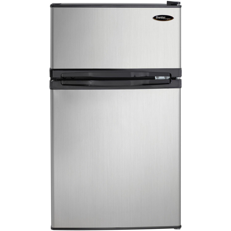 Danby DCR031B1BSLDD 3.1 cu. ft. 2 Door Compact Refrigerator, Steel by Danby