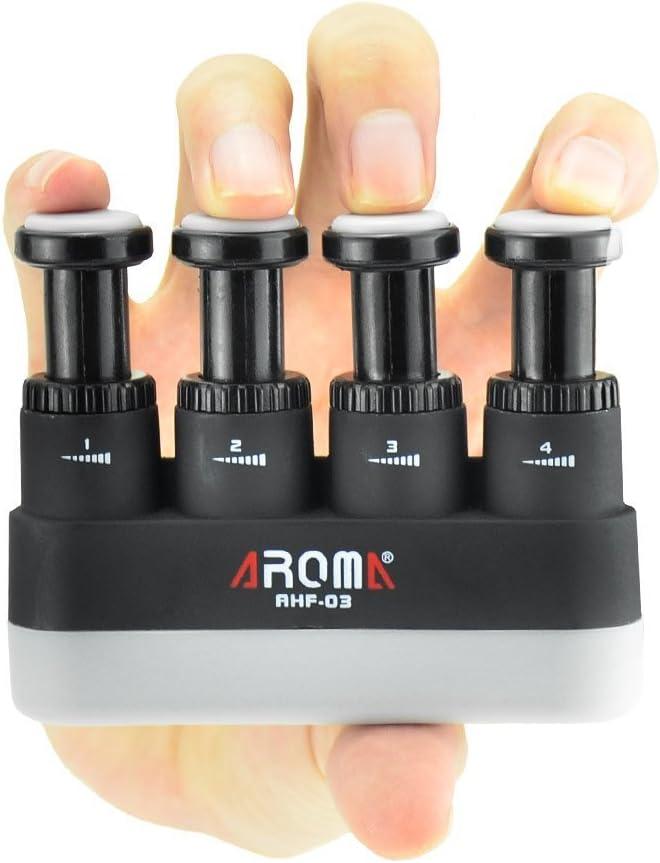 Finger Strengthener,4 Tension Adjustable Hand Grip Exerciser Ergonomic Silicone Trainer for Guitar,Piano,Trigger Finger Training